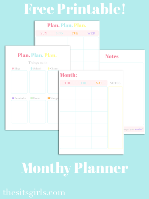 Monthly Blog Planner - Free Printable
