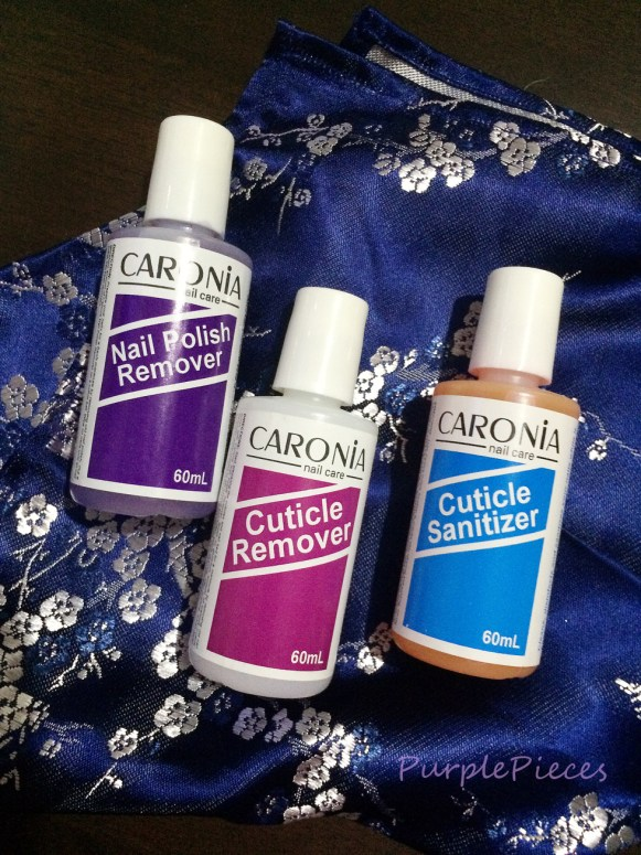 Caronia Nail Care Set - Nail Polish Remover - Cuticle Remover - Cuticle Sanitizer
