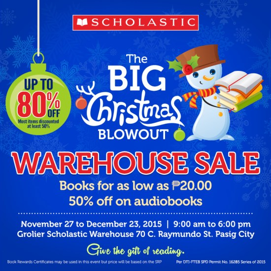 2015 Christmas Warehouse Sale Scholastic