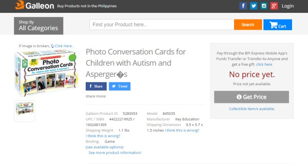 Galleon PH Photo Conversion Cards for Children with Autism and Aspergers