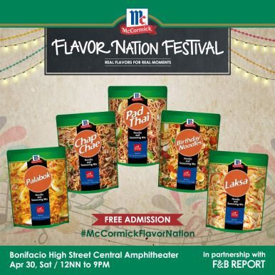 McCormick Flavor Nation Festival - McCormick Noodle and Seasong Mix