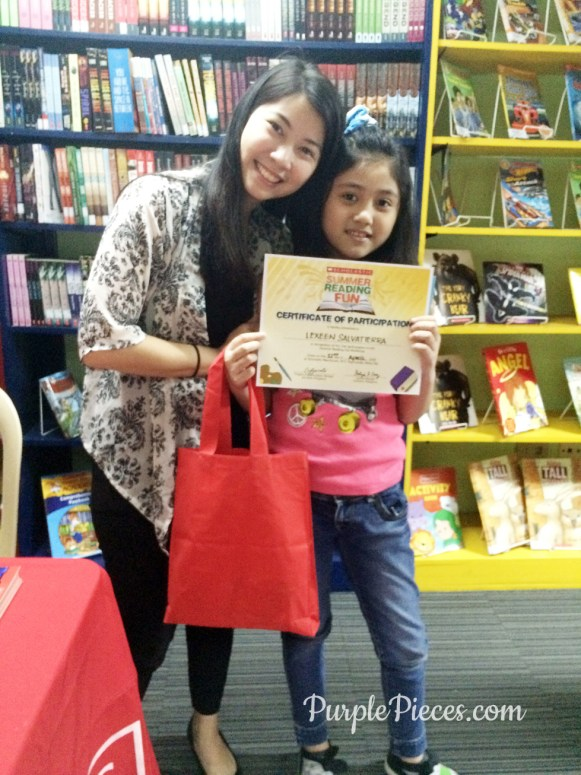 Scholastic Summer Reading Fun Certificate 2016