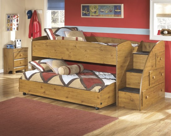 stages-light-brown-twin-loft-caster-bed