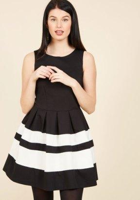 ModCloth A Dreamboat Come True A-Line Dress in Black