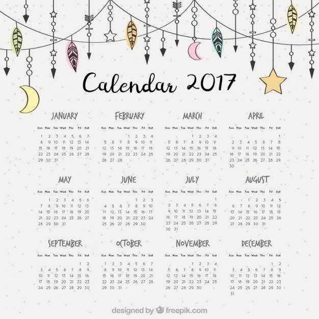2017-calendar-with-hand-drawn-boho-ornaments_23-2147577588