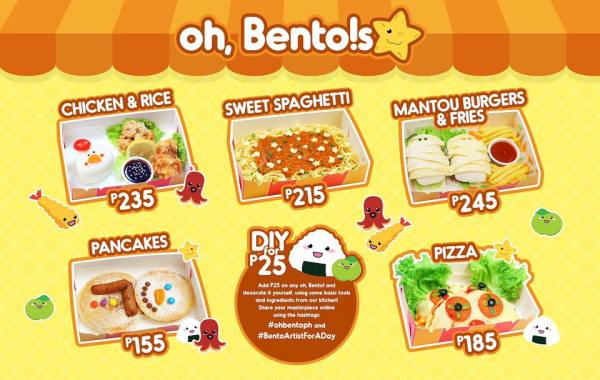 Oh Bento Nuvali Menu - Bento for kids