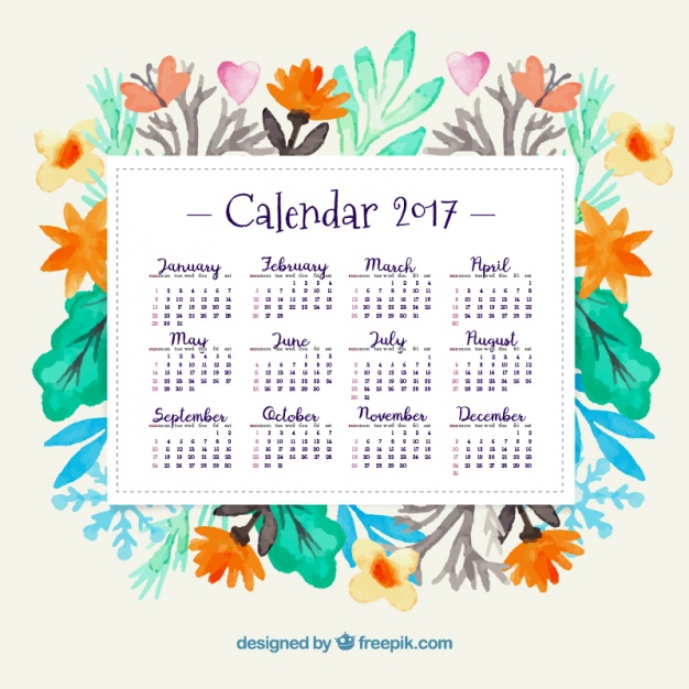 10 beautiful  free printable 2017 calendars