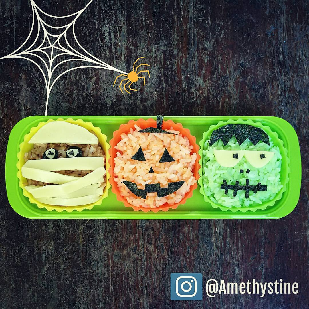 halloween-bento-box-mummy-jack-o-lantern-and-frankenstein