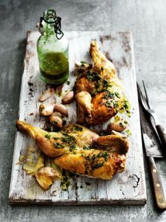 Portuguese style peri peri chicken with crispy potatoes
