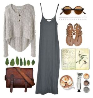 Travel Outfit Grey Dress