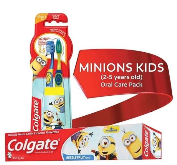 Colgate Minions Kids 2-5 Years Old (Junior) Oral Care Pack