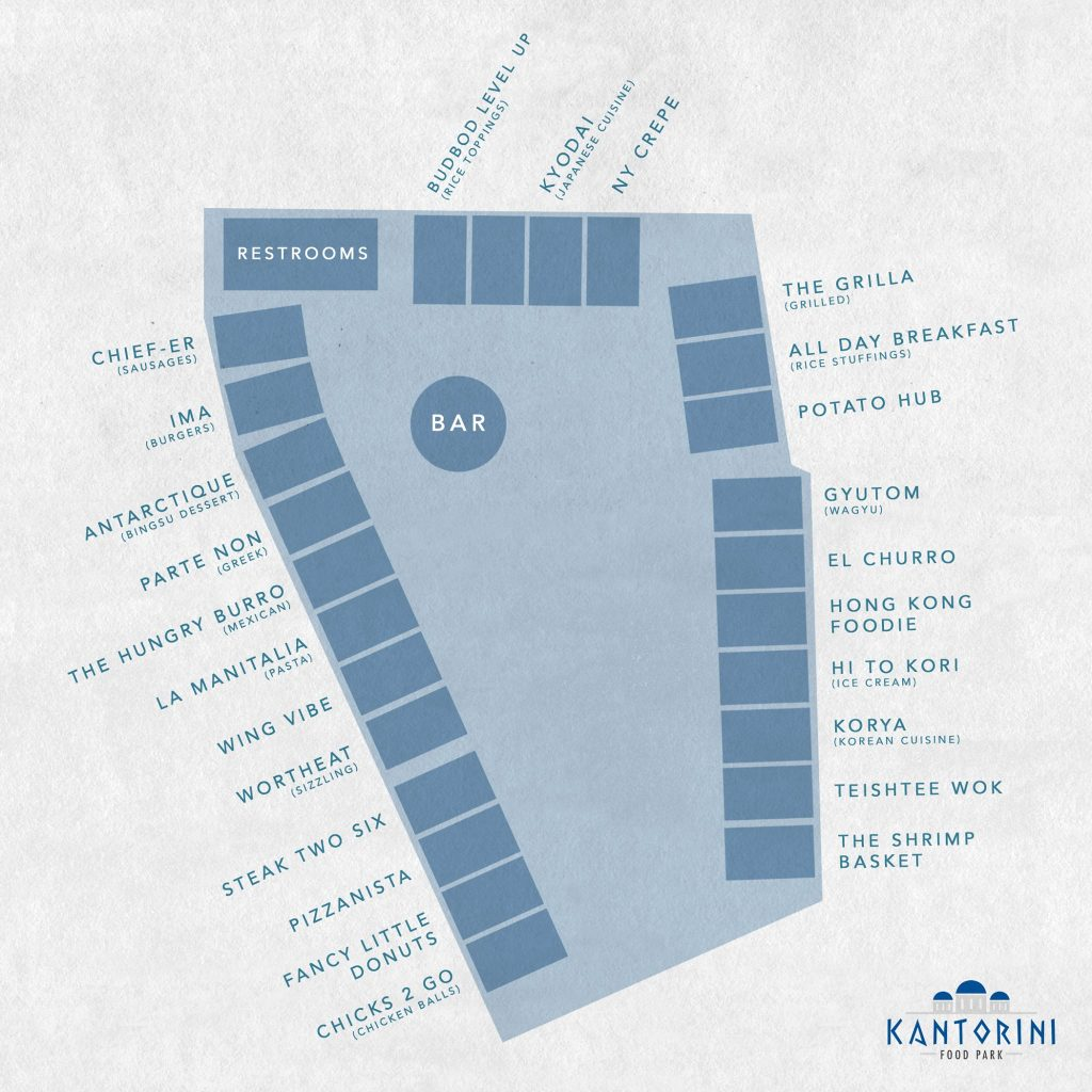 Kantorini Food Park List of Food Stalls