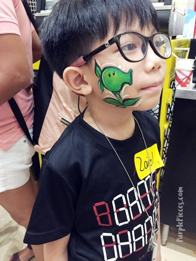 SM Kids City Face Painting Peashooter