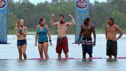 purple-rock-survivor-podcast-cambodia-episodes-10-11- Stephen Fishbach flexes