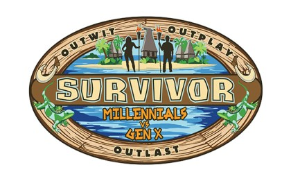 Survivor: Millennials vs Gen X logo