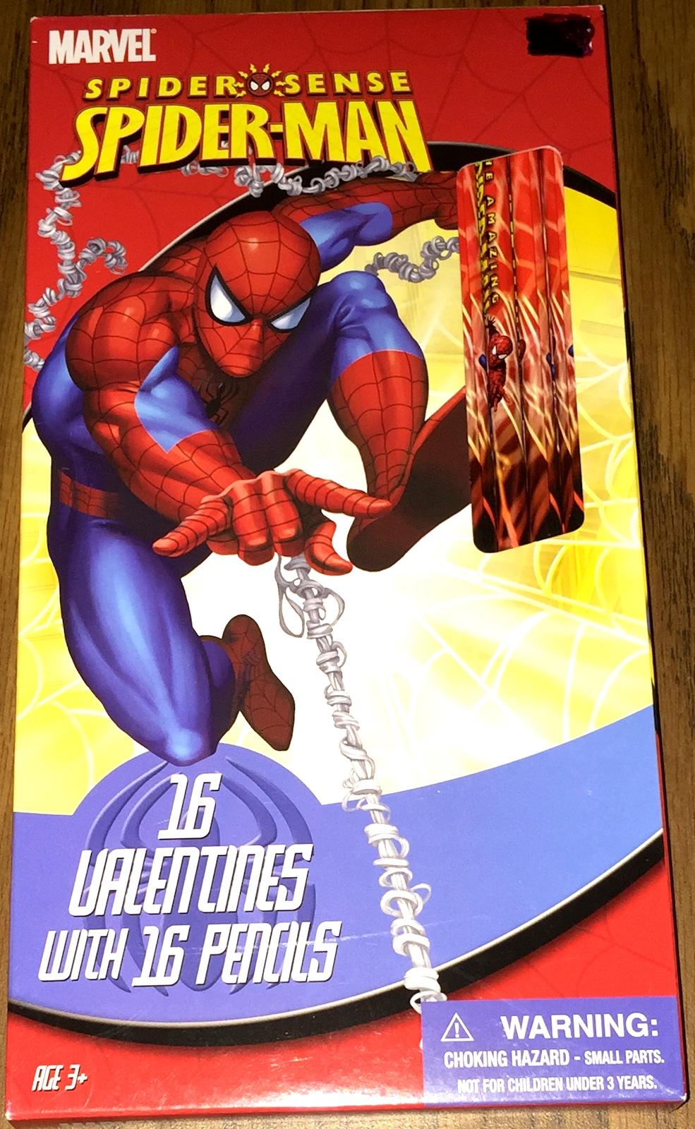 Spider Man Pencils Plus Valentines Day Cards