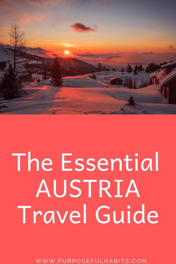 Vienna, Austria's capital city has been voted the world's most livable city, 9 TIMES IN A ROW! It is my home so click through for an amazing insider and expert Austria Travel Guide for resources and trip planning. #travel #destinations #Europe #Austria #travelguide #tripplanning #trips #holiday #getaway #vacation via @purposefulhabits
