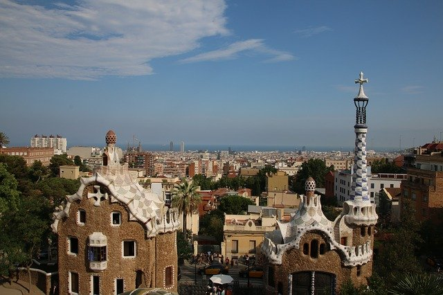 Park Guell Travelling With Friends In Barcelona