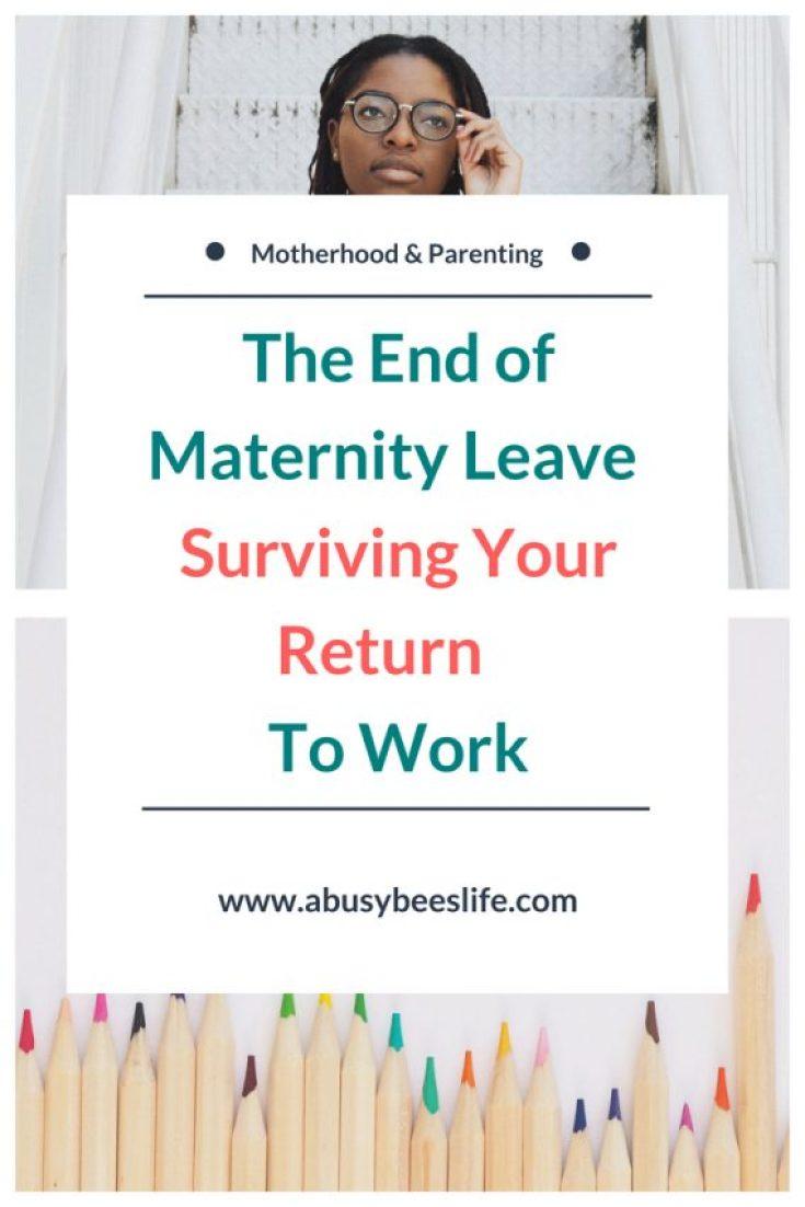 Maternity leave, managing the guilt of returning to work, suriving your return #motherhood. #parenting #child #kids #momlife #inspiration