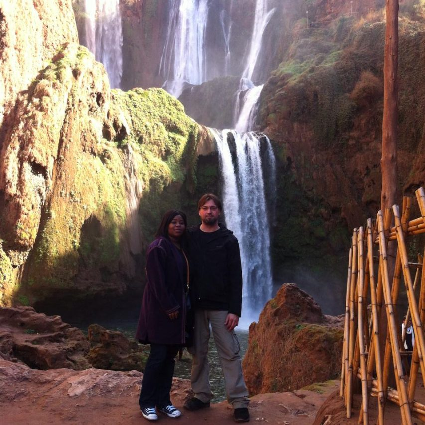 Hiking up the atlas mountains, Sheri and Franz ©Copyright A Busy Bee's Life