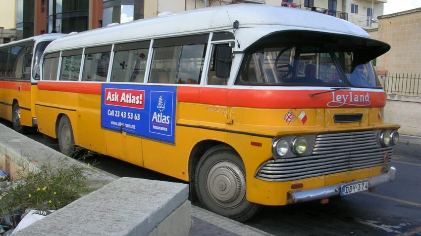 Malta Tour Bus Old