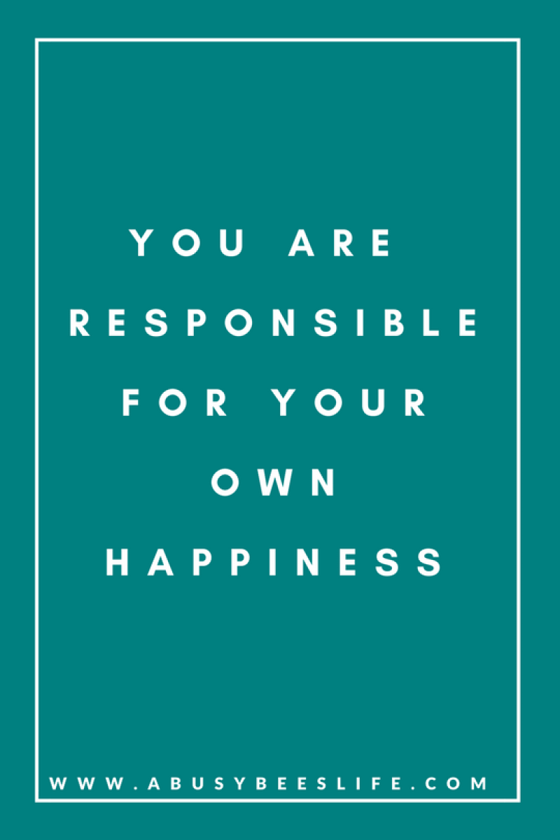 motivational quotes responsible for happiness