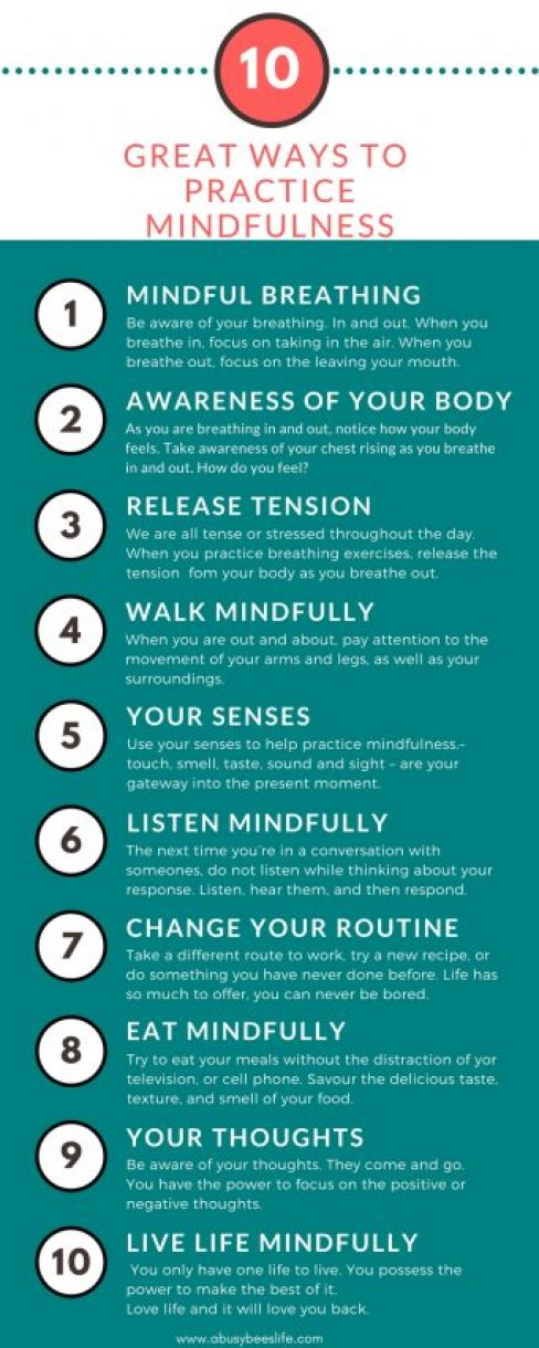 Here are 10 great ways to practice mindfulness. Practicing mindfulness will help you find calm, peace, and that home-work-life balance you have been looking for. Click through to learn more.