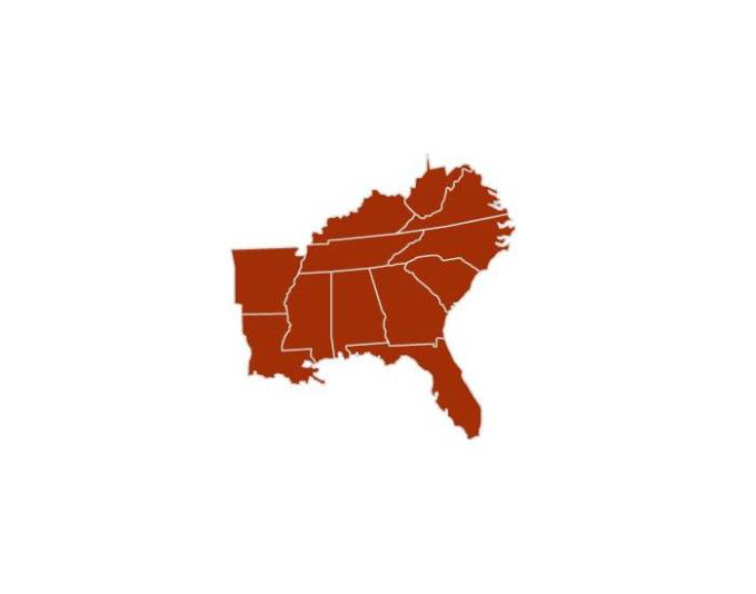 Southeast Us States And Capitals Games GamesWorld - Blank map of southeast us
