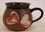What to buy your girlfriend for valentine day present handmade ceramic mug 250 ml (hearts)