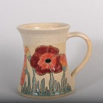 Mug - poppies tall