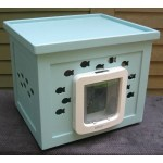 cat flap blue