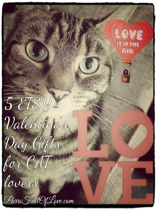 5 Beautiful Etsy Valentine's Day Gifts for Cat Lovers