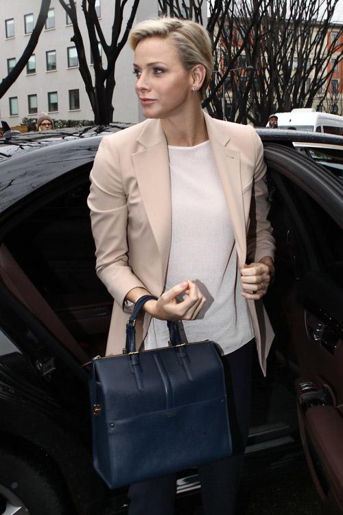 Princess Charlene Of Monaco Hits The Fashion Week Circuit Again This Time With Armani PurseBlog