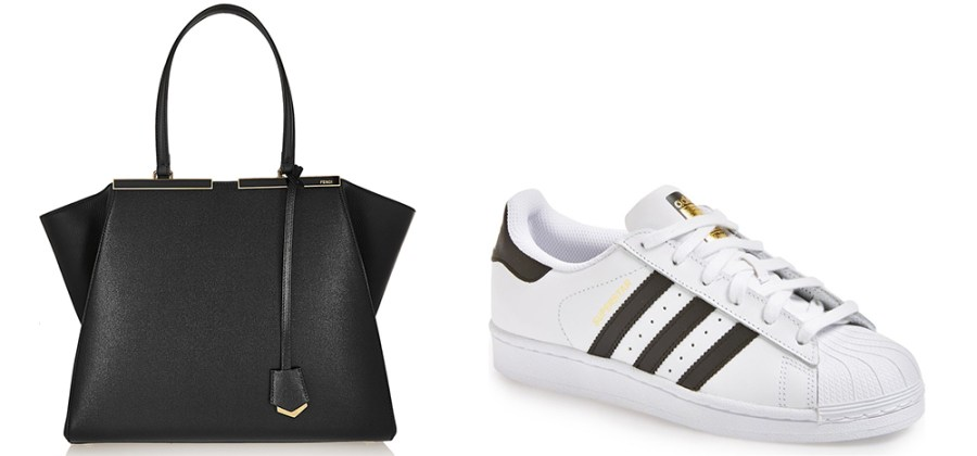 Fendi 3Jours Medium Textured-Leather Tote €  2,550 via Net-a-Porter Adidas Superstar Sneaker €  80 via Nordstrom