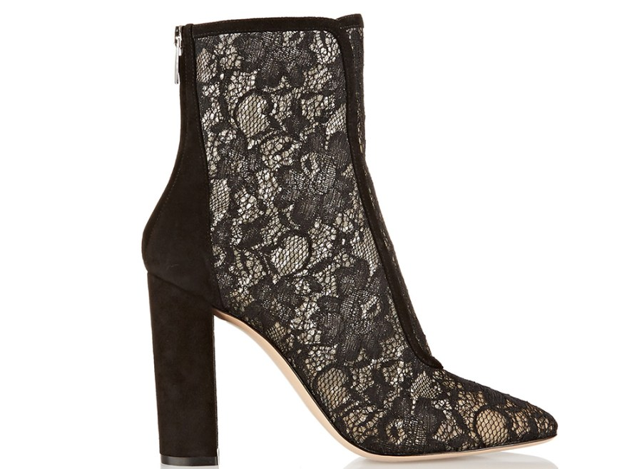 Gianvito-rossi-suede-afgeslankte chantilly-kant-ankle-boots