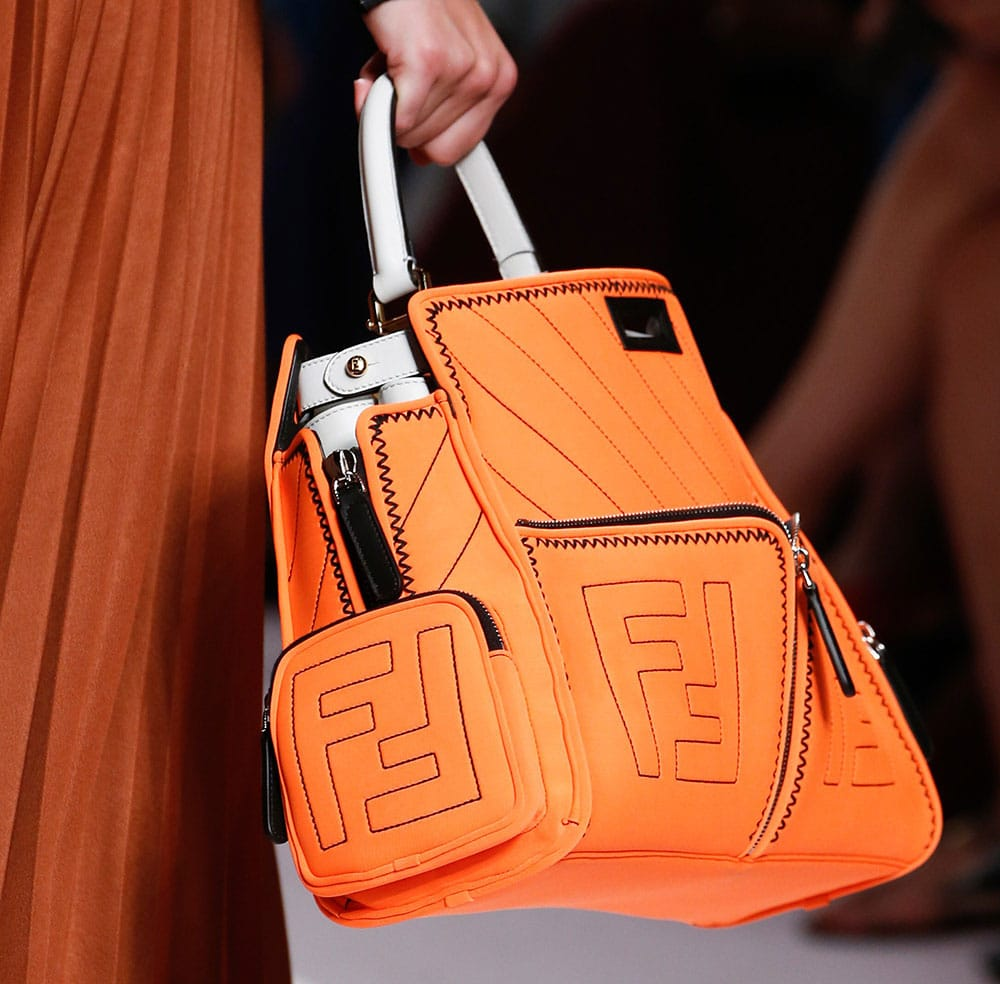 Fendi's Spring 2019 Runway Bags Emphasize Utility Pockets and Embossed Leather Logos - PurseBlog