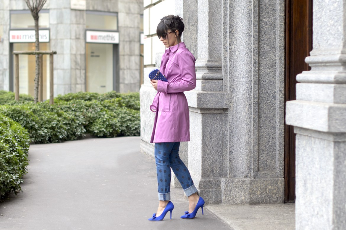 Milan Fashion Week & Un trench radiant orchid