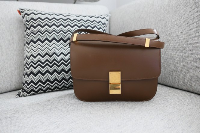 Celine classic medium box bag in camel