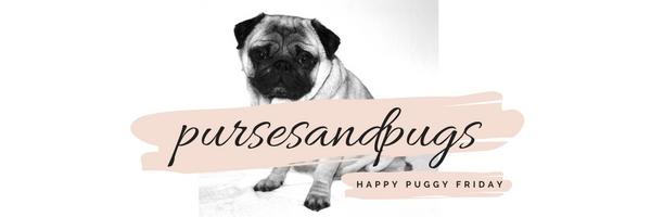happy puggy friday, pursesandpugs newsletter