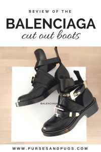 Black Balenciaga Ceinture cut out boots with silver and gold hardware.