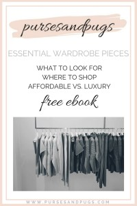 Essential wardrobe pieces, free ebook