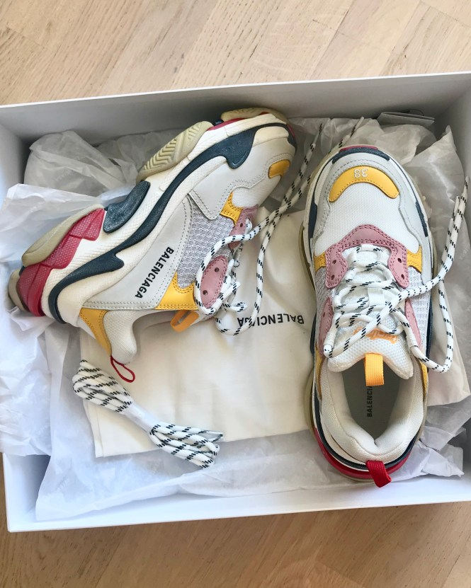 Balenciaga Triple S, the best dad sneaker out there.