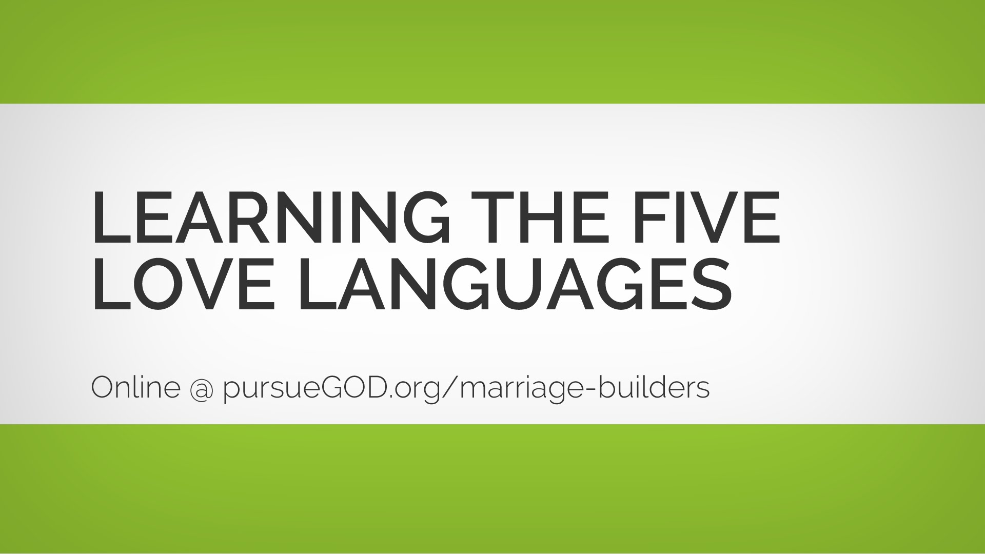 How To Choose Love In Marriage Series