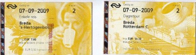 Tiket Kereta Breda Rotterdam ; Breda - Den Bosch