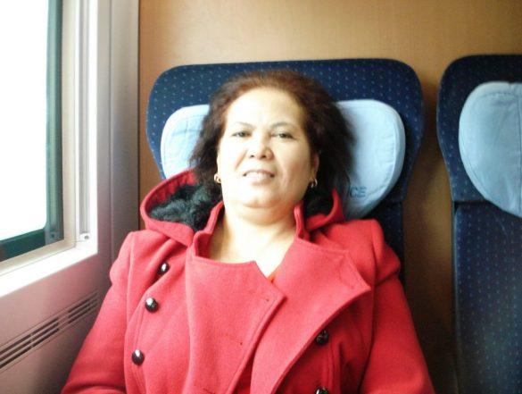 Selamat Ulang Tahun Mamaku Tercinta . Mama Tercinta naik kereta ICE menuju Berlin (Foto: dok. pribadi)