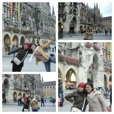 Bergaya di Marienplatz