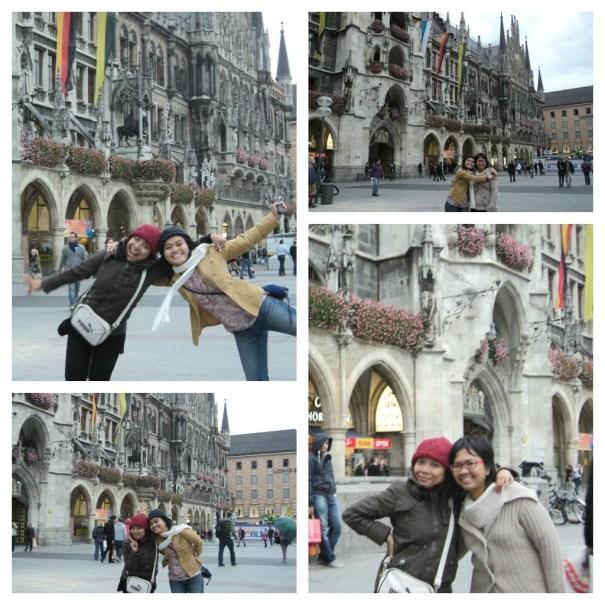 Ramainya Bulan Oktober di München. Bergaya di Marienplatz (Foto: dok. pribadi)