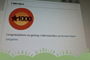 Horree 1000 Likes!