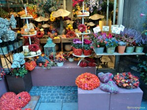 Dekorasi Musim Gugur dinominasi Warna Orange. Munchen 05.10.2012