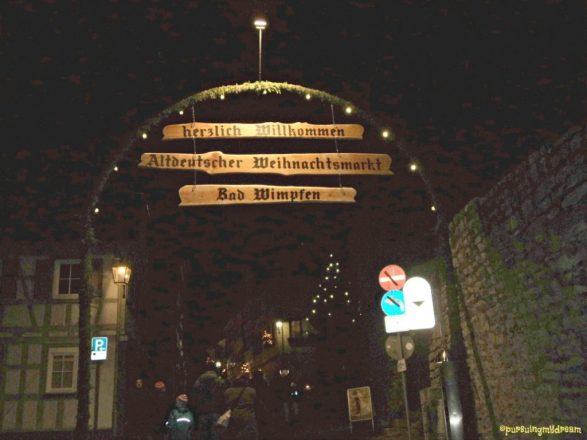 Selamat Datang di Pasar Natal Kota Tua Bad Wimpfen